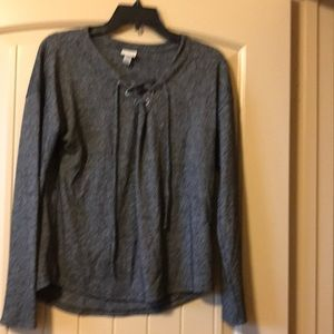 A new day farm Gray long sleeve shirt size xs